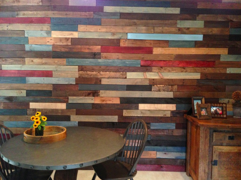 Pallet Wall Bathroom on Pinterest | Dresser Vanity Bathroom, Pallet ...