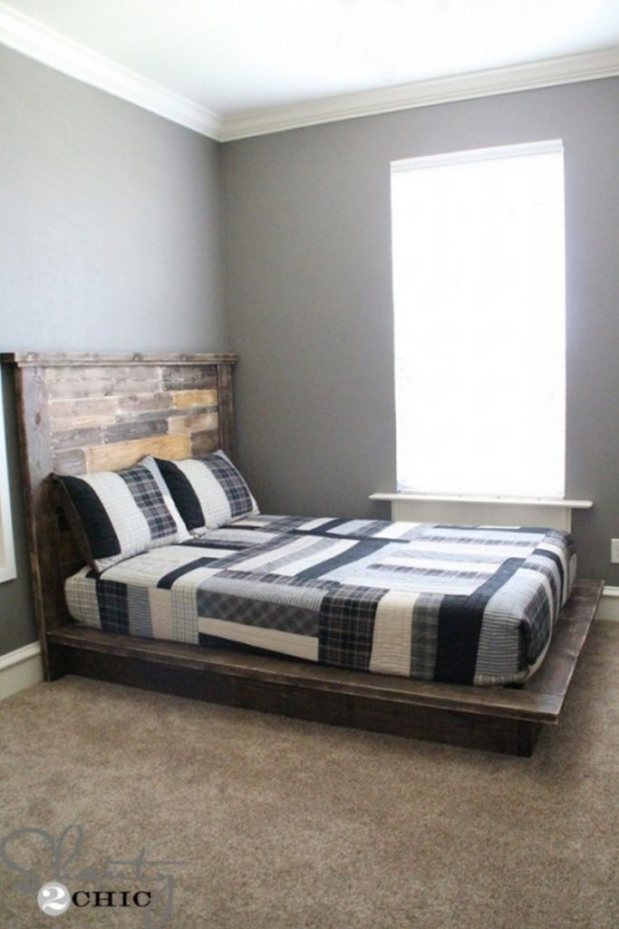 Easy do it yourself platform bed the owner builder network for Simple diy platform bed