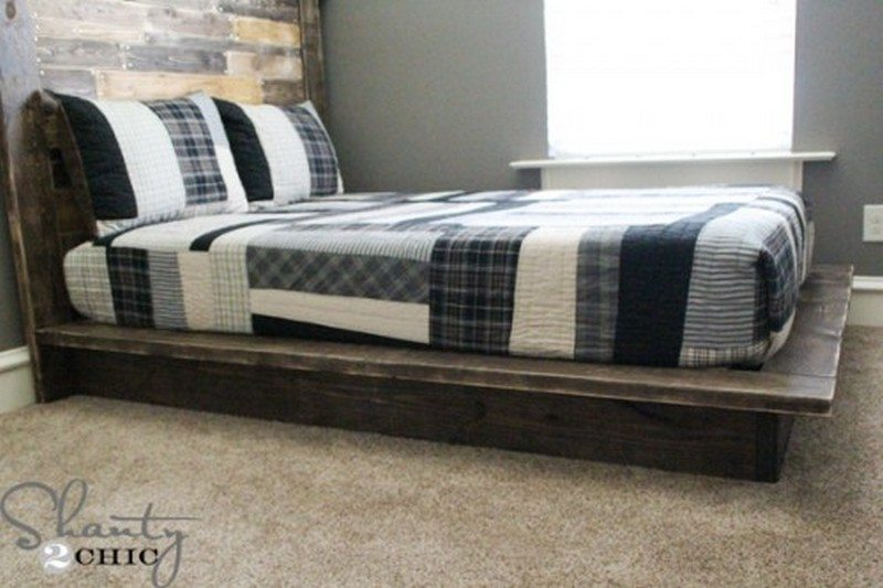 Easy do it yourself platform bed the owner builder for Simple diy platform bed
