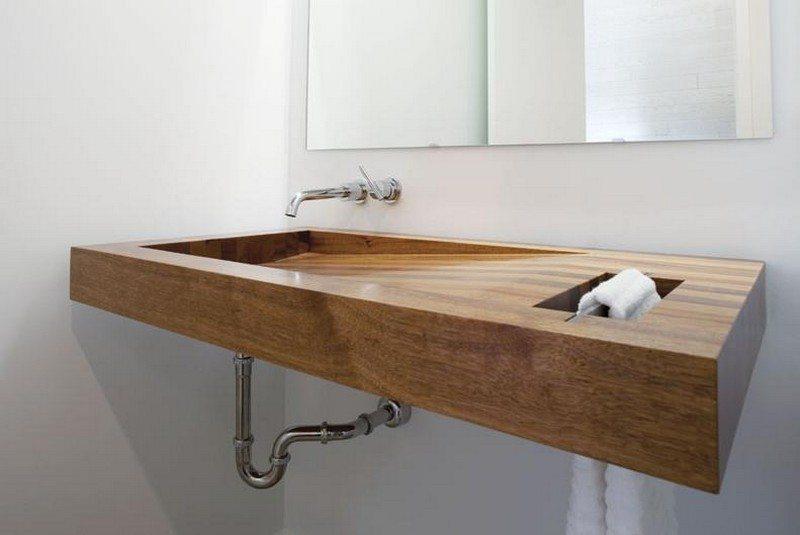 Wooden Bathroom Sink : Beautiful Wooden Bathroom Sink