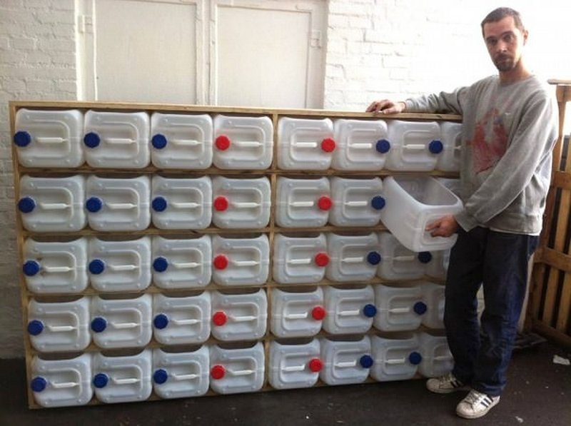 Plastic Bottle Upcycled Drawer Storage System