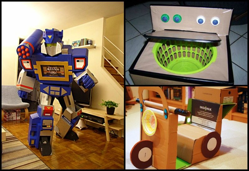 Things you can make with cardboard boxes that will blow for What can i make with boxes