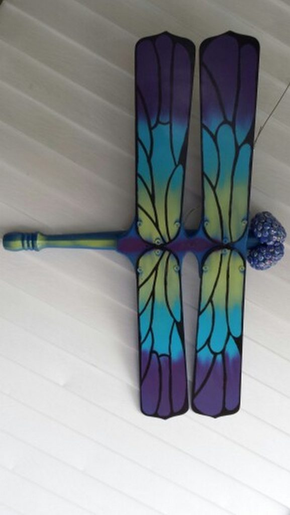Upcycle ceiling fan blades into giant dragonflies | The Owner-Builder ...
