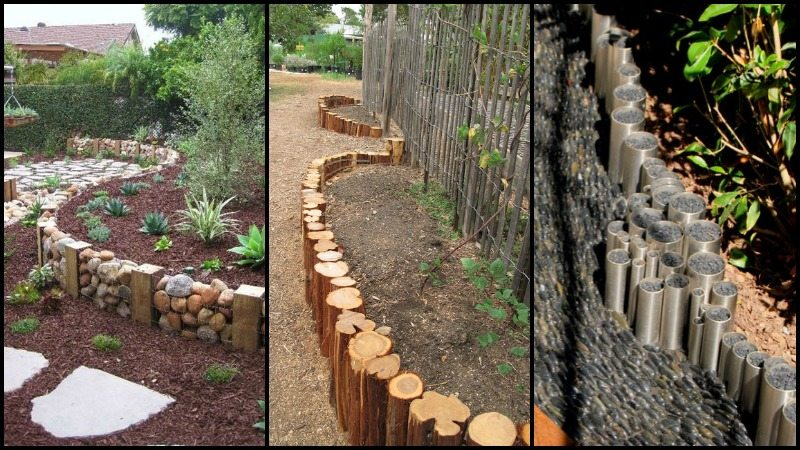 Eleven interesting garden bed edging ideas