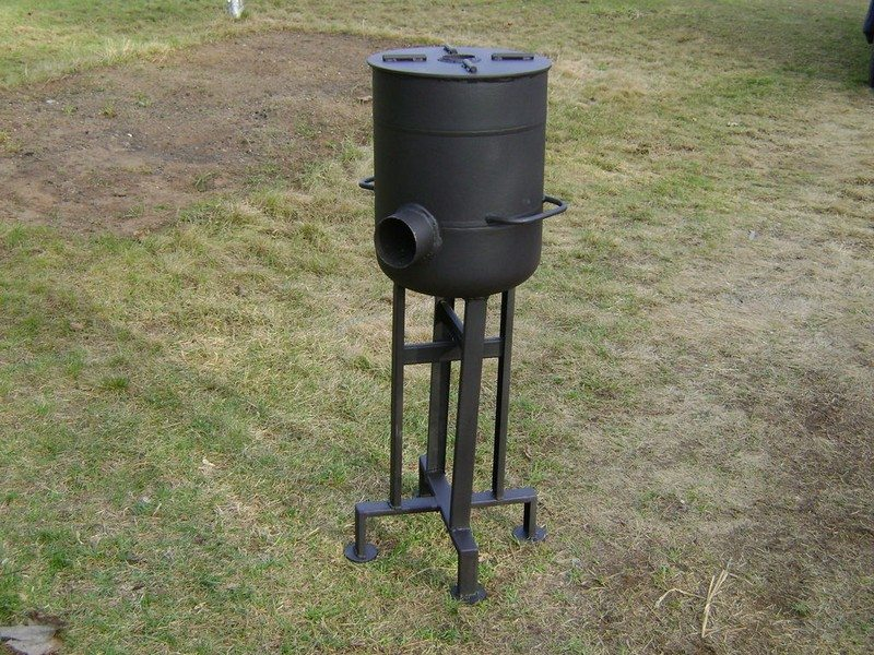 The gallery for portable rocket stove mass heater for Portable rocket stove plans