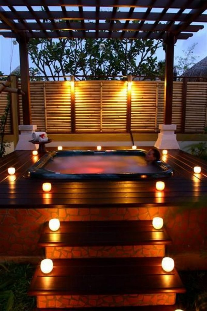 Image Result For Above Ground Tub Landscaping