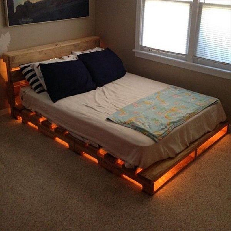 Illuminated Pallet Bed : The Owner-Builder Network