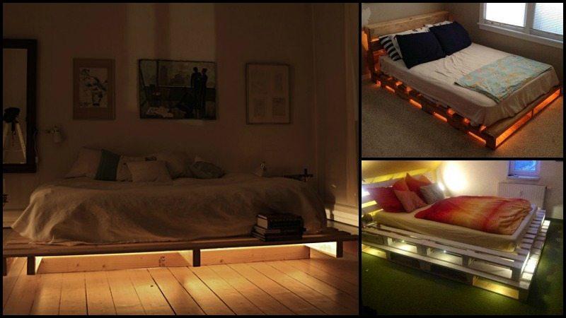 Illuminated Pallet Bed