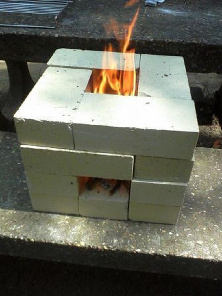 How to make a 6 brick rocket stove the owner builder for How to make a rocket stove with bricks