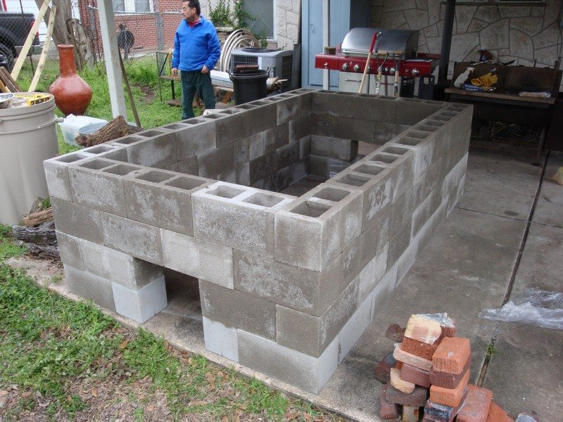 Backyard Cinder Block Smoker : diy outdoor kitchen thanks to joe davidson for this great project you