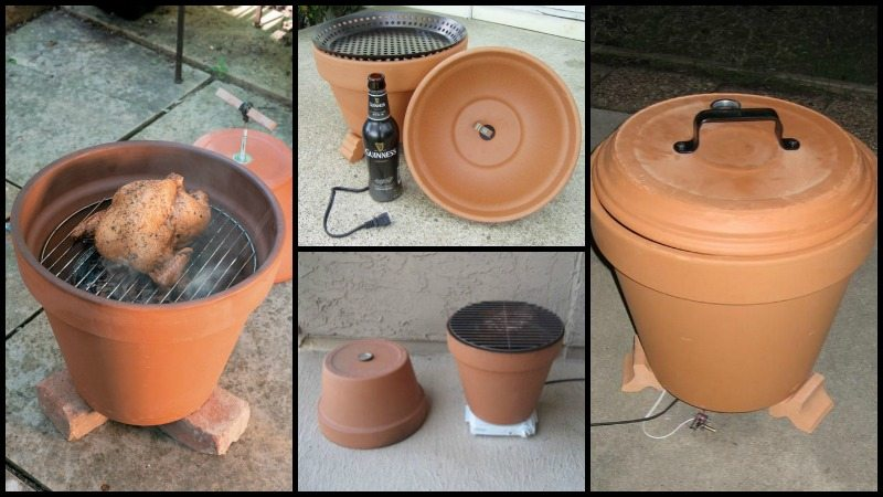 build your own clay pot smoker the owner builder network. Black Bedroom Furniture Sets. Home Design Ideas