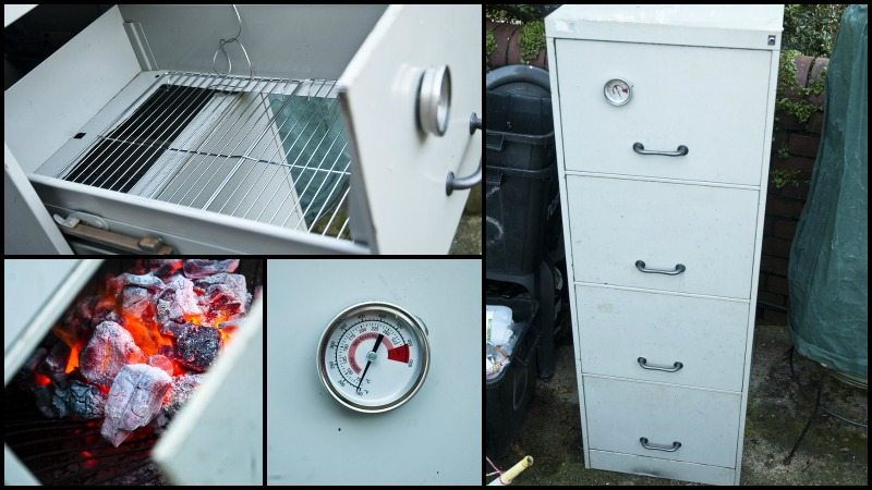 how to make a smoker out of a filing cabinet