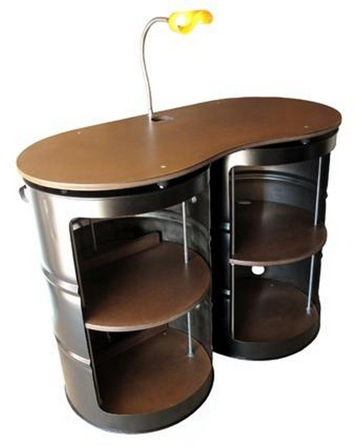 55 gallon metal drum project ideas the owner builder network for Metal 55 gallon drum