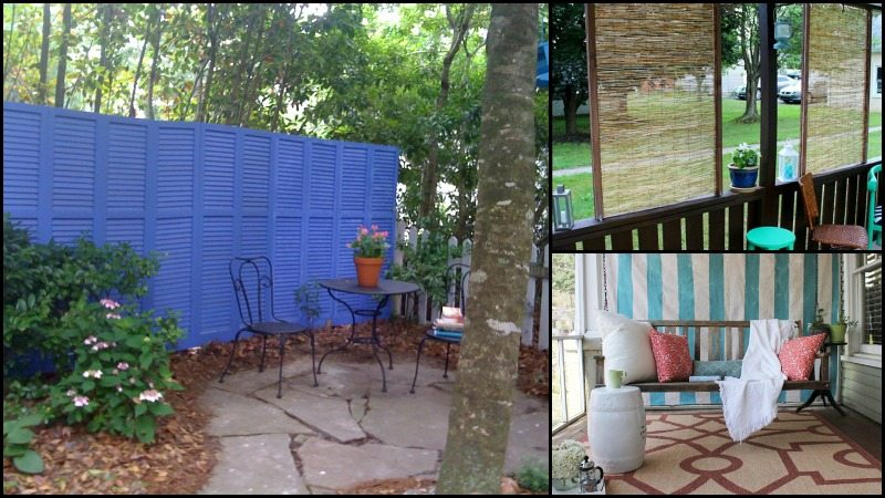 Privacy screen ideas for your outdoor area for Temporary privacy screen