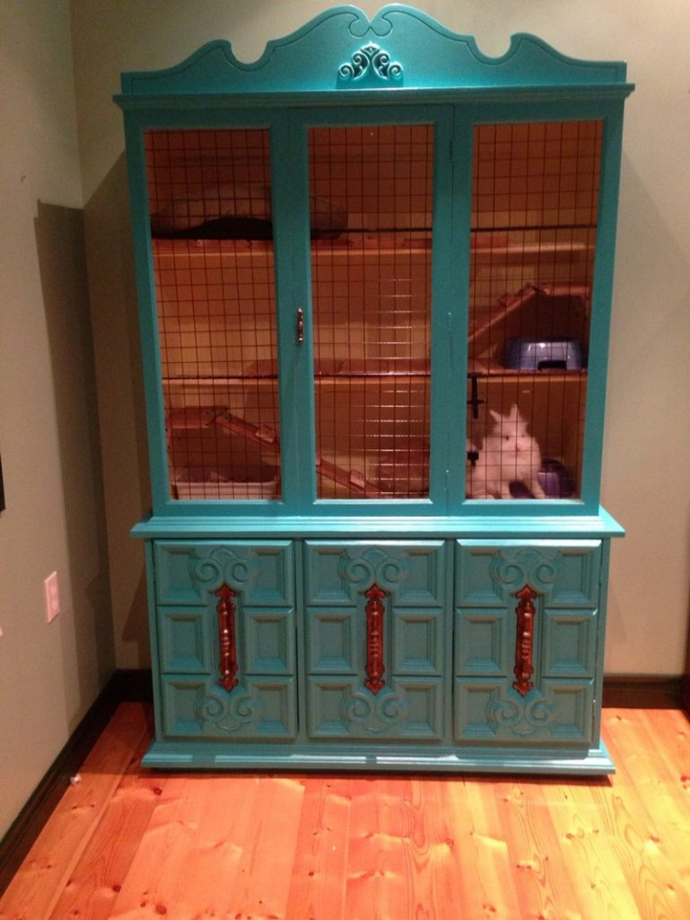 Rabbit hutch ideas made from repurposed furniture | The Owner-Builder ...