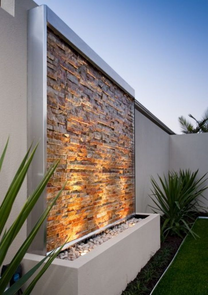 Water wall feature ideas the owner builder network for Garden water wall designs