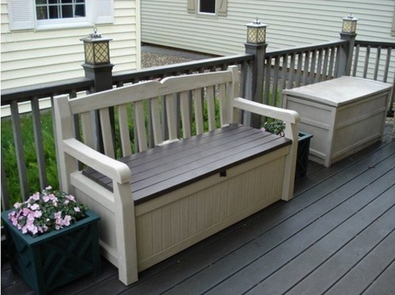 Outdoor bench with storage the owner builder network Storage bench outdoor