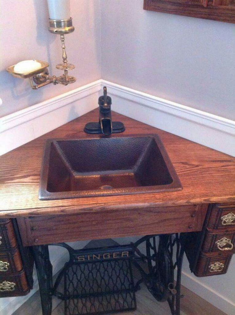 Creative Ways To Reuse Your Old Sewing Machine Table The