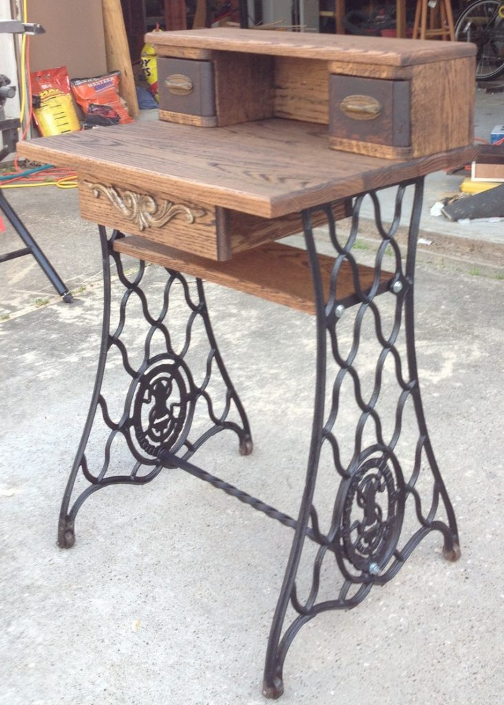 Creative ways to reuse your old sewing machine table The  : Upcycled Old Sewing Machine Table 12 from theownerbuildernetwork.co size 732 x 1024 jpeg 140kB