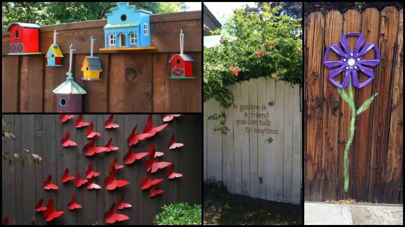 Fence decoration ideas - Garden fence decoration ideas ...