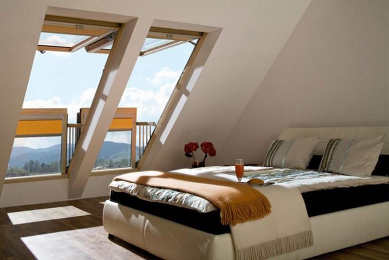 Мансарда - божественное место для спальни - 95 фото.