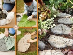 How To Make A Leaf-Shaped Stepping Stones - The Owner-Builder Network