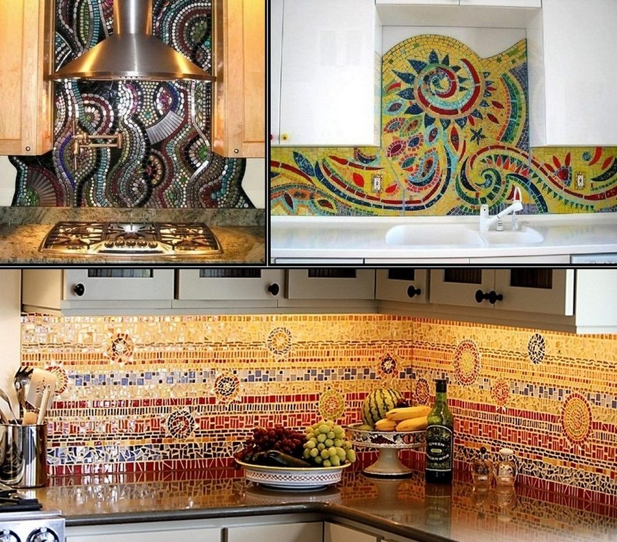 A lot of the mosaic ideas we show you are for outdoors.  What do you think of the idea of using a mosaic as a splash back?