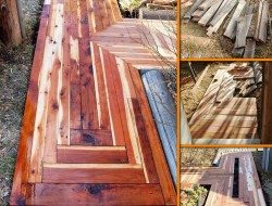 DIY Reclaimed Lumber Sidewalk - The Owner-Builder Network