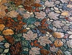 I'm not sure whether this is strictly a mosaic, but it would make a lovely floor in a sunroom or conservatory.