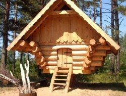 Hehehe! It's a log cubby house!  It makes me want to be a kid again! Do you think the kids in your life would want one too?