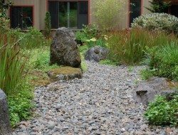 Dry Creek In Lush Courtyard - Portland