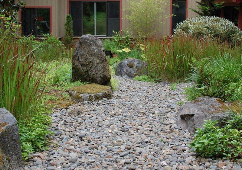 Dry Creek In Lush Courtyard - Portland