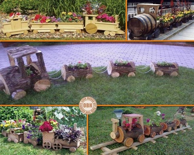 Choo choo… What do you think of these wooden train planters - are you coming aboard or will you let this idea pass?