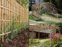 All these gardening ideas are made from one amazingly versatile, carbon sequestering, renewable resource - bamboo.