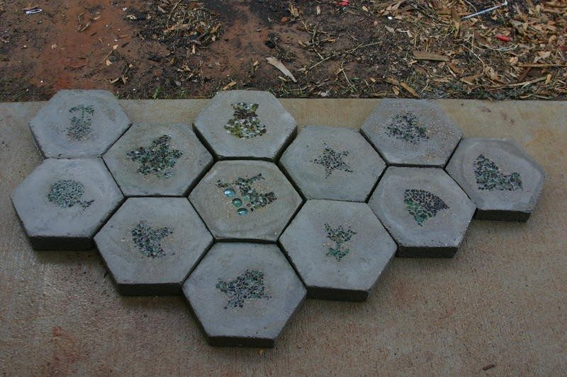 Handmade Hexagon Stepping Stones - The Owner-Builder Network