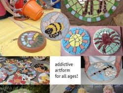 Mosaic Stepping Stones - Tracey Cartledge