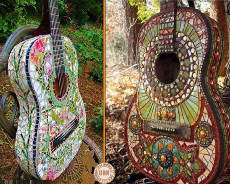 Romance happens in unexpected places - when unloved musical instruments and mosaic meet... What do you think?