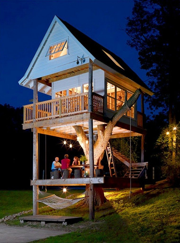 Whoever said treehouses are just for the kids? If you've been with us for a while already, you'll know it's not us! This fabulous treehouse was designed by friends for friends, and We know you're going to love it.  Want to see more? Let us know, and we'll post more details from the building and finished interior! Share the love!