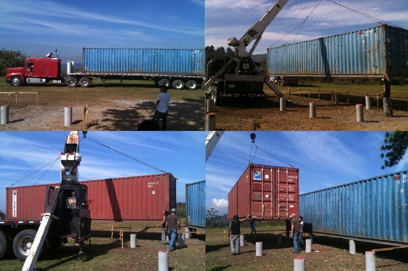 Shipping Container Arrival and setup