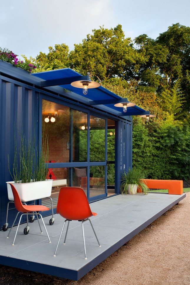 The deck adds significant visual space to what is otherwise a very narrow space at under 8'.