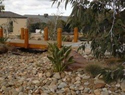 Dry Creek Bed Bridge Landscape by Design Melbourne