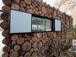 Log Cabin on Wheels - Open Window Close Up