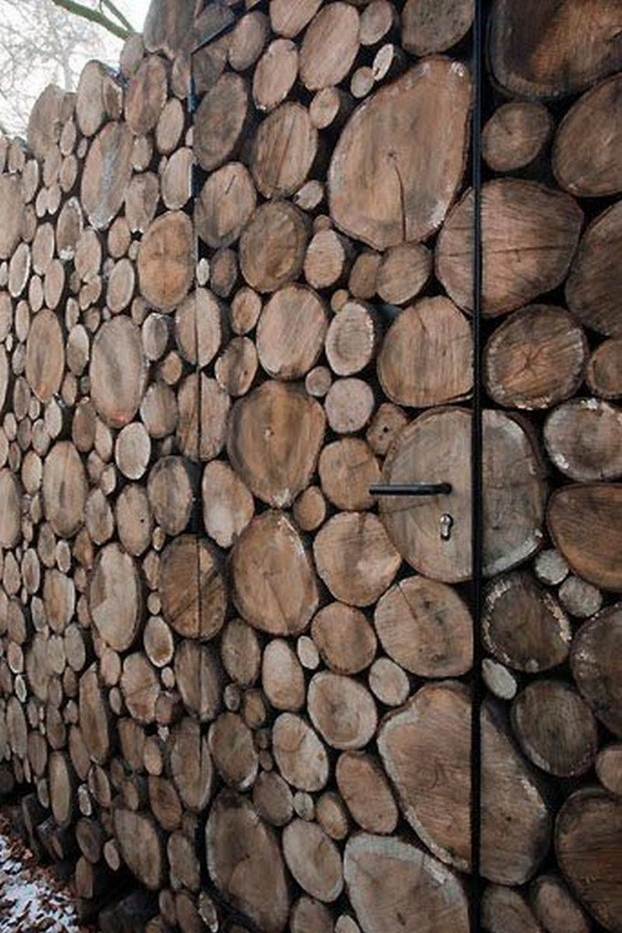 Log Cabin on Wheels - Log End Cladding