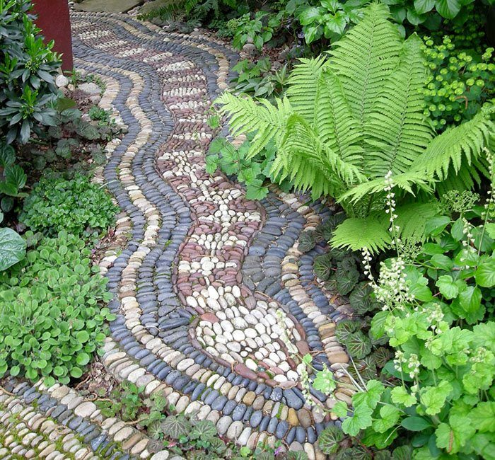 As long as you don't have a thing about snakes (or those things without legs as a phobic friend of mine calls them), then how about this as a great garden path?