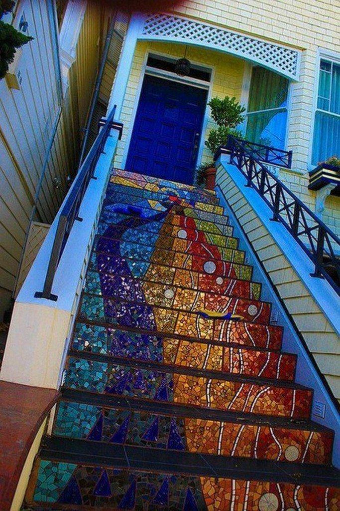 Amazing mosaic steps - Indulgy