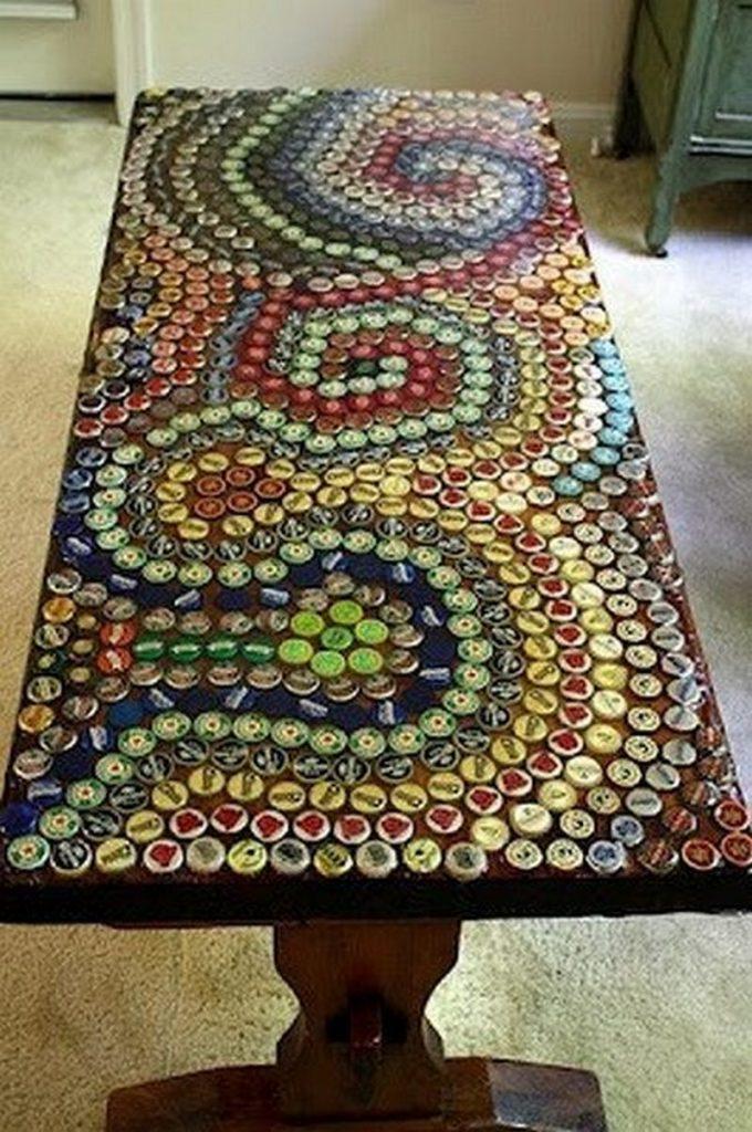 Bottle cap table top - Indulgy