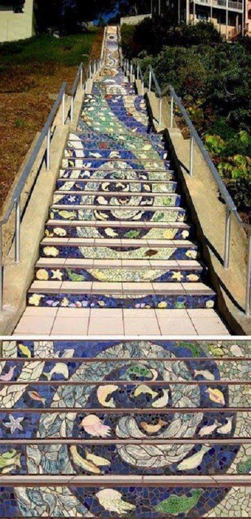 Tiled Steps Project - San Francisco