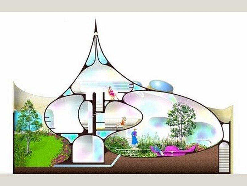 Image gallery nautilus house for Nautilus garden designs