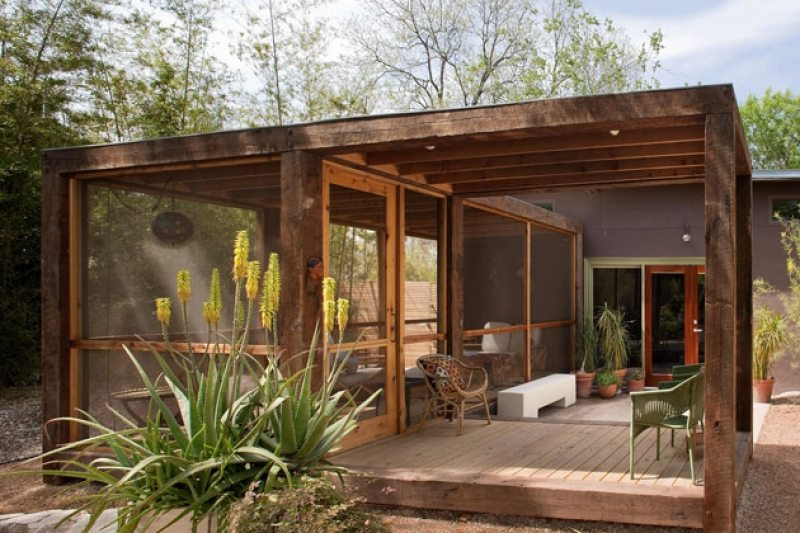 The poteet loft porch the owner builder network - Terrazas rusticas ...