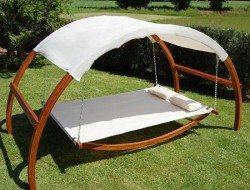 Is it a bed, is it a garden seat, or is it a swing?